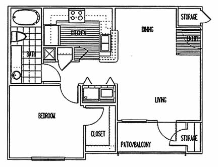 659 sq. ft. A1 PHI floor plan