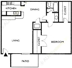581 sq. ft. NECHES floor plan