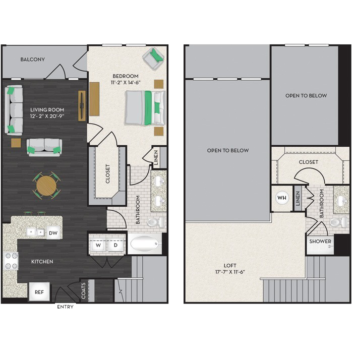 1,293 sq. ft. A4M floor plan