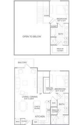 1,684 sq. ft. C1 floor plan