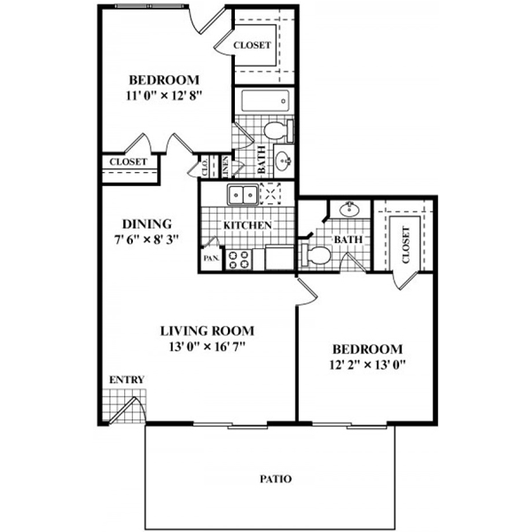 874 sq. ft. G floor plan