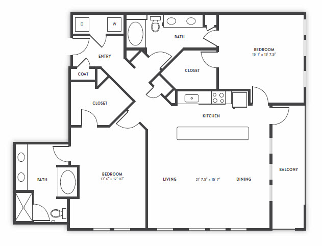 1,669 sq. ft. to 1,763 sq. ft. TH1 floor plan
