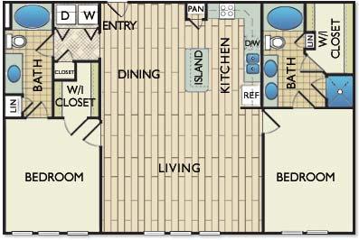 1,298 sq. ft. O'Keefe floor plan