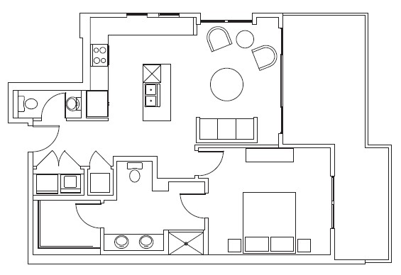 854 sq. ft. Chisholm floor plan