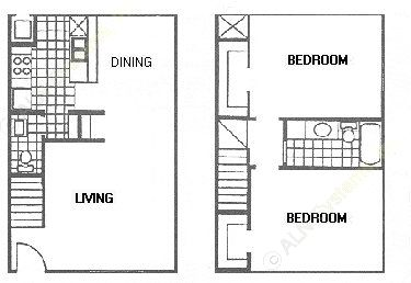 1,008 sq. ft. D floor plan