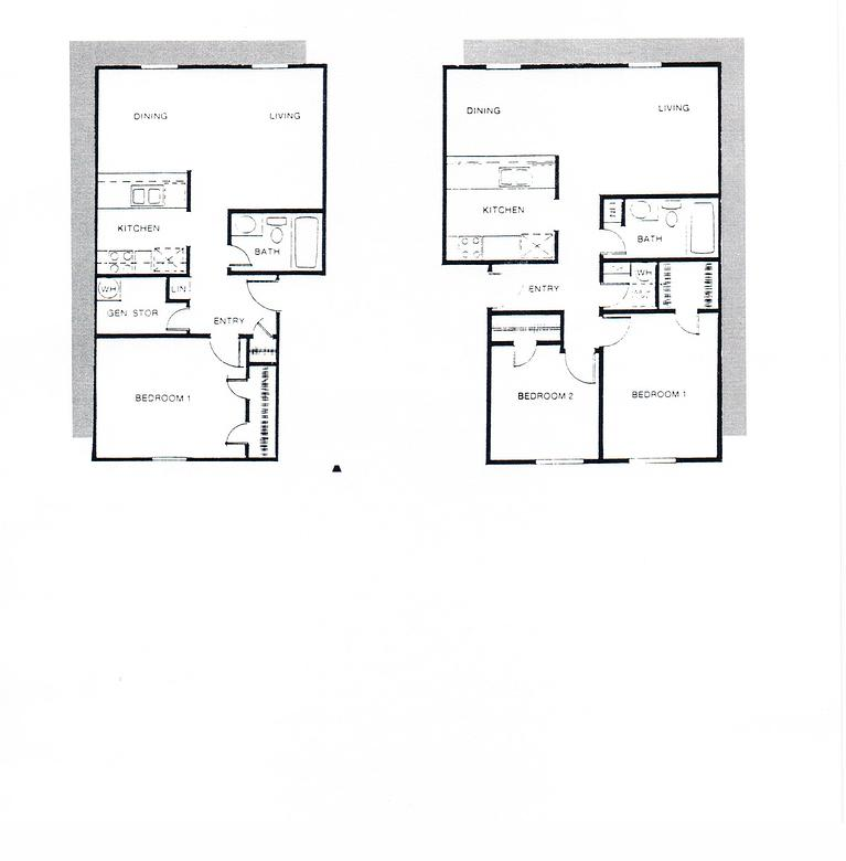 747 sq. ft. B1 floor plan