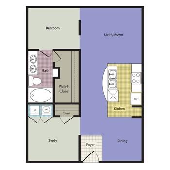 1,139 sq. ft. Verona floor plan