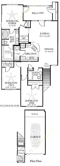1,346 sq. ft. C2G floor plan