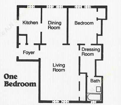 874 sq. ft. A1 floor plan
