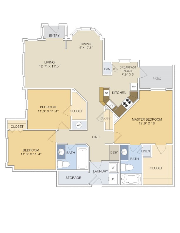 1,447 sq. ft. C1L/GAR floor plan