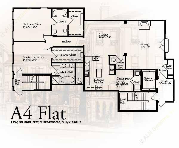 1,796 sq. ft. A4 floor plan