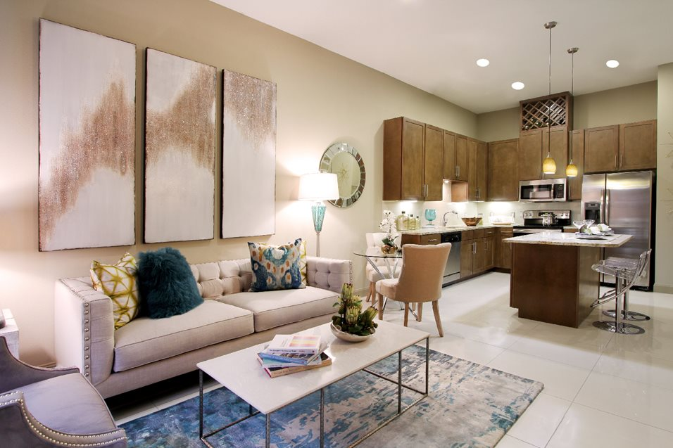 Living/Kitchen at Listing #249917