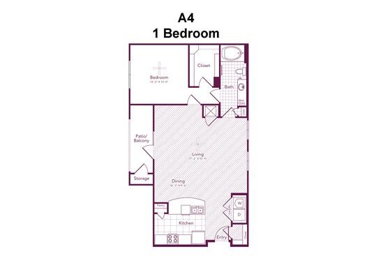 972 sq. ft. Richmond floor plan