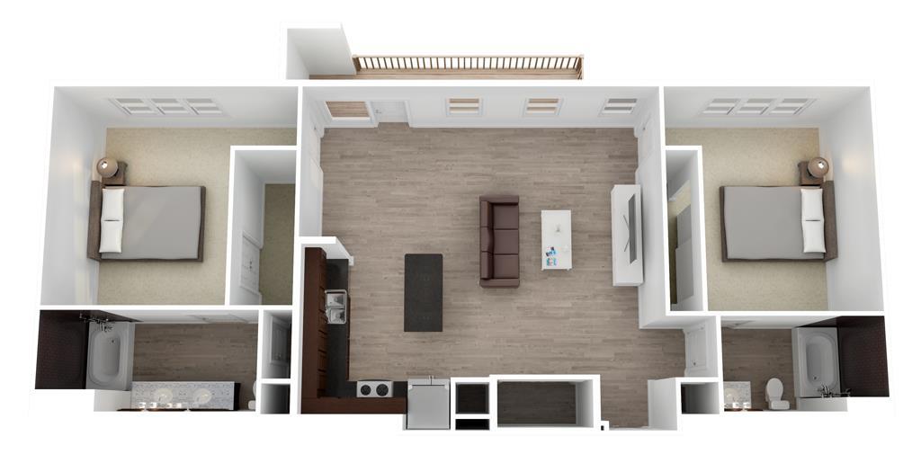 1,190 sq. ft. to 1,234 sq. ft. McCommas floor plan