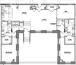 2,212 sq. ft. Unit 3 floor plan