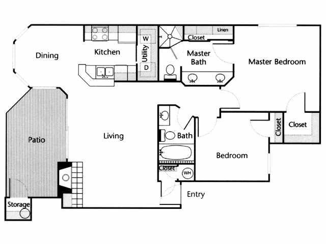 1,031 sq. ft. Comal floor plan