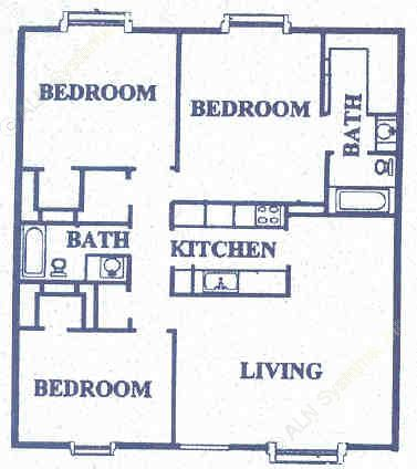 1,247 sq. ft. floor plan