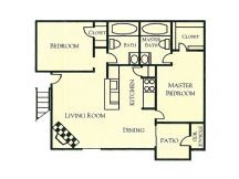 920 sq. ft. floor plan