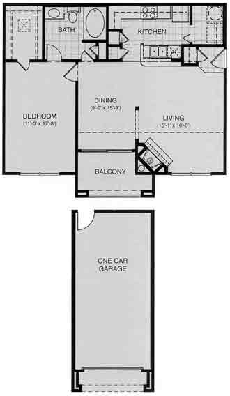 862 sq. ft. Geneva floor plan
