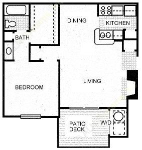 648 sq. ft. STAGECOACH floor plan