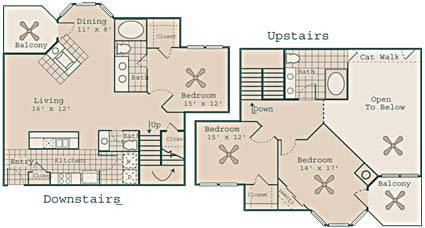 1,685 sq. ft. C2/C2GAR floor plan
