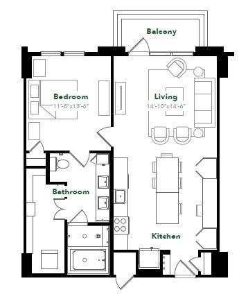 896 sq. ft. A28.3 floor plan