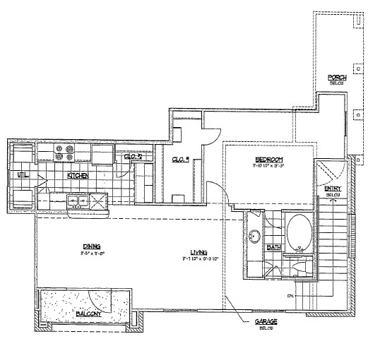 788 sq. ft. C1/60% floor plan