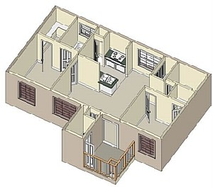 848 sq. ft. 60 floor plan