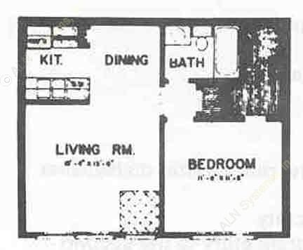 510 sq. ft. I ABP floor plan
