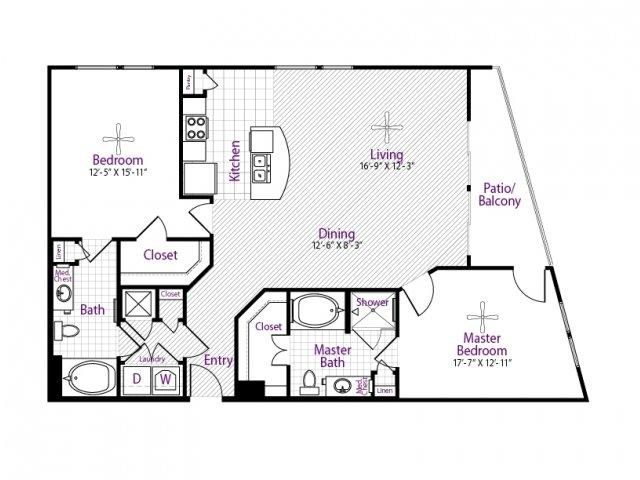 1,337 sq. ft. TOKYO floor plan