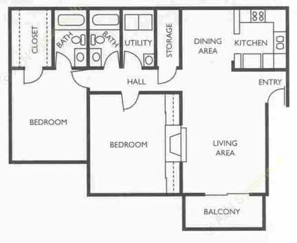 1,117 sq. ft. Analyst floor plan