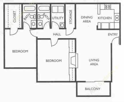 1,117 sq. ft. Analyst floor plan