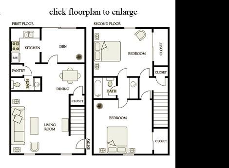 1,134 sq. ft. C3 floor plan
