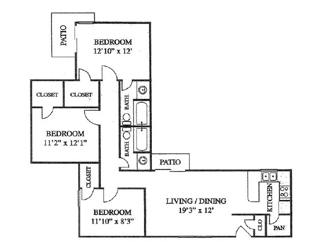 1,251 sq. ft. floor plan