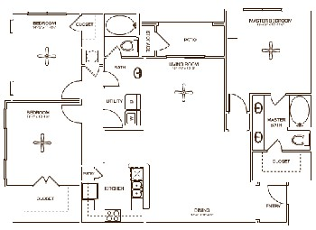 1,508 sq. ft. WESTON floor plan