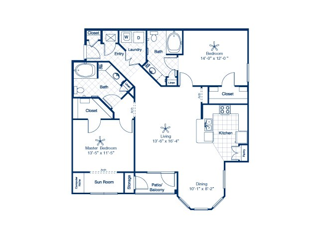 1,341 sq. ft. Eagle floor plan