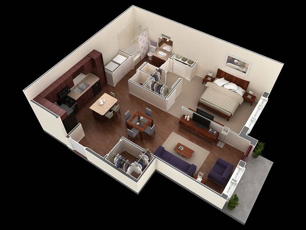 772 sq. ft. Jones floor plan