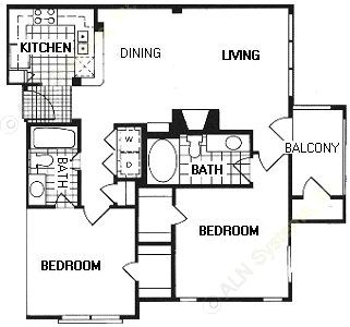 958 sq. ft. B1/Greenwich floor plan