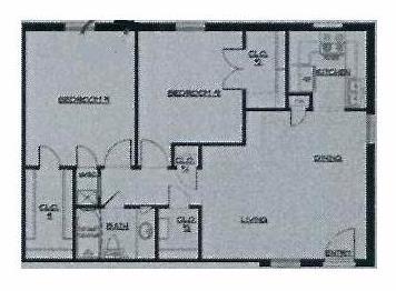 814 sq. ft. 50% floor plan