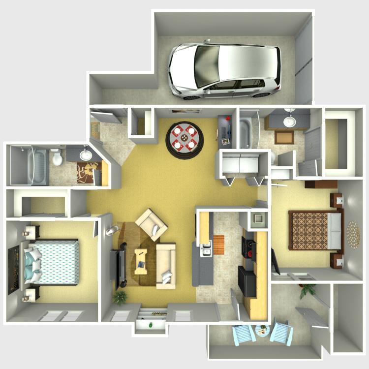 1,078 sq. ft. Pinnacle floor plan