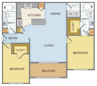 1,097 sq. ft. D/Summit floor plan