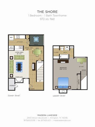970 sq. ft. C3 floor plan