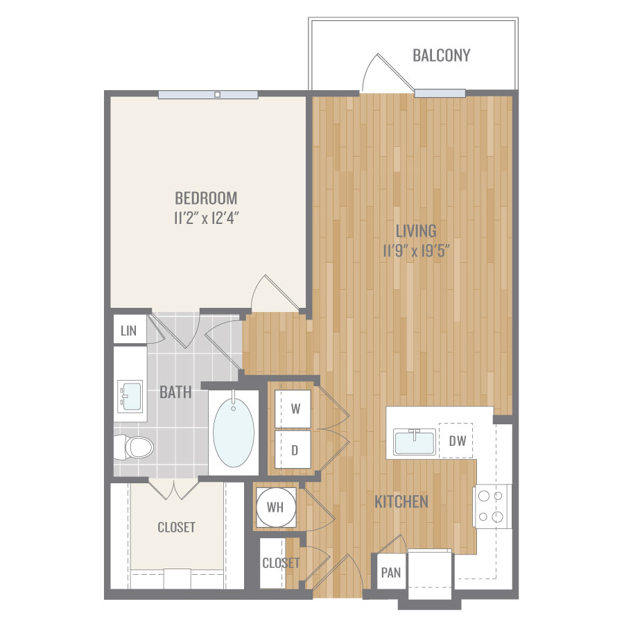 737 sq. ft. A4-1 floor plan