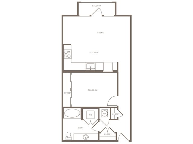841 sq. ft. A9 floor plan