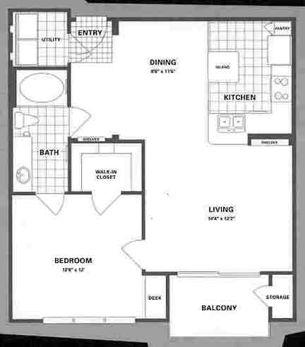 777 sq. ft. A4 floor plan