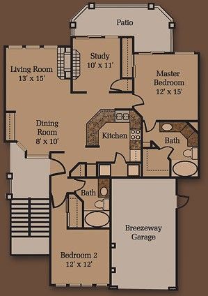 1,339 sq. ft. B5 floor plan