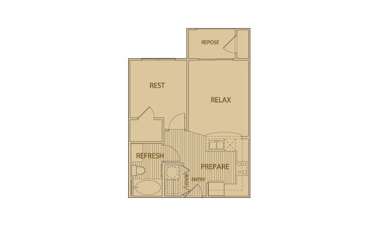 525 sq. ft. A1.1 floor plan