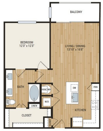 817 sq. ft. Hays floor plan
