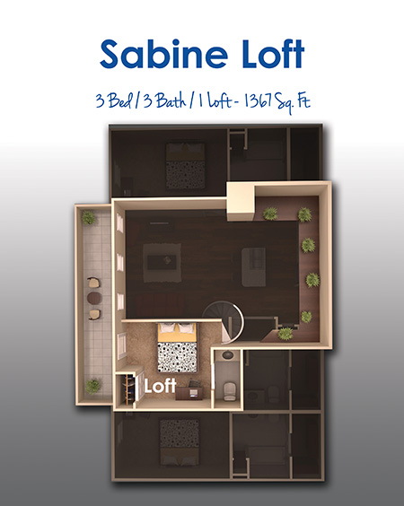 1,367 sq. ft. floor plan