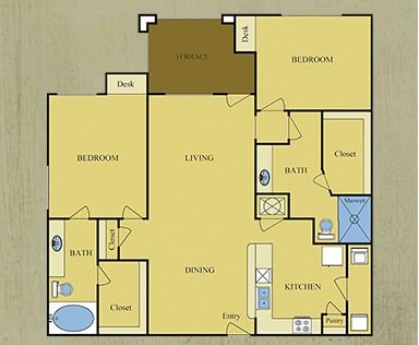 1,269 sq. ft. Willow floor plan